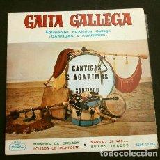 Discos de vinilo: GAITA GALLEGA (EP 1964) AGRUPACION FOLKLORICA GALLEGA CANTIGAS E AGARIMOS - MUÑEIRA -FOLIADA GALICIA. Lote 152565126