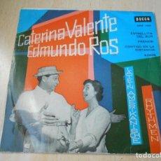 Discos de vinilo: CATERINA VALENTE Y EDMUNDO ROS, EP, ESTRELLITA DEL SUR + 3, AÑO 1961. Lote 152567182