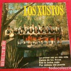 Discos de vinilo: LOS XUSTOS (EP 1967) LA PRIMERA VEZ EN MIO VIDA - DANZA DE LOS ARCOS - ASTURIAS. Lote 152568250