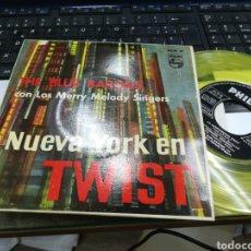 Discos de vinilo: THE BLUE BARONS EP NUEVA YORK EN TWIST 1962. Lote 152568494