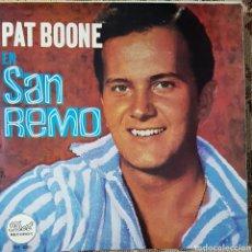 Discos de vinilo: PAT BOONE EN SAN REMO EP SELLO DOT EDITADO EN ESPAÑA AÑO 1966. Lote 152571400