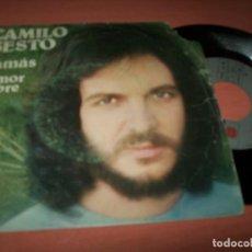 Discos de vinilo: CAMILO SESTO - JAMAS + AMOR LIBRE .. SINGLE DE 1975 - ARIOLA. Lote 152580142
