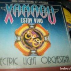 Discos de vinilo: ELECTRIC LIGHT ORCHESTRA – ESTOY VIVO + SUEÑOS DE TAMBORES .. SINGLE - BANDA SONORA DE 1980 . Lote 152581170