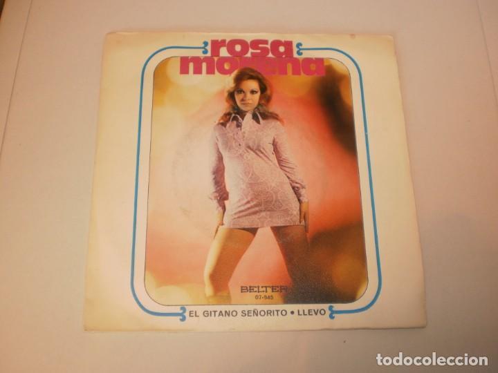 SINGLE ROSA MORENA. EL GITANO SEÑORITO. LLEVO. BELTER 1971 SPAIN (DISCO PROBADO Y BIEN) (Música - Discos - Singles Vinilo - Flamenco, Canción española y Cuplé)