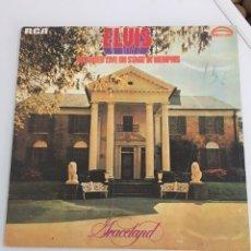 Discos de vinilo: ELVIS PRESLEY GRACELAND RECORDED LIVE IN MEMPHIS LP. Lote 152603902