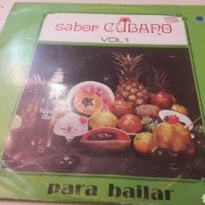 Discos de vinilo: SABOR CUBANO V.1 PARA BAILAR AREITO CUBA. Lote 152604218