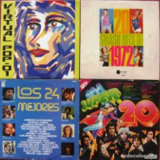Discos de vinilo: LOTE 4 LP DOBLES - VIRTUAL POP, LOS 24 MEJORES, LOS SUPER 20, 20 SMASH HITS OF 1972. Lote 152614686