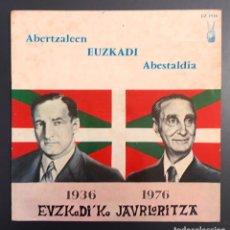 Discos de vinilo: ABERTZALEEN EUZKADI ABESTALDIA - EDICIÓN FRANCESA . Lote 152641642