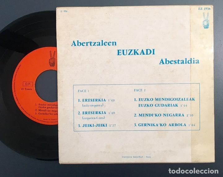 Discos de vinilo: Abertzaleen Euzkadi Abestaldia - edición francesa - Foto 2 - 152641642