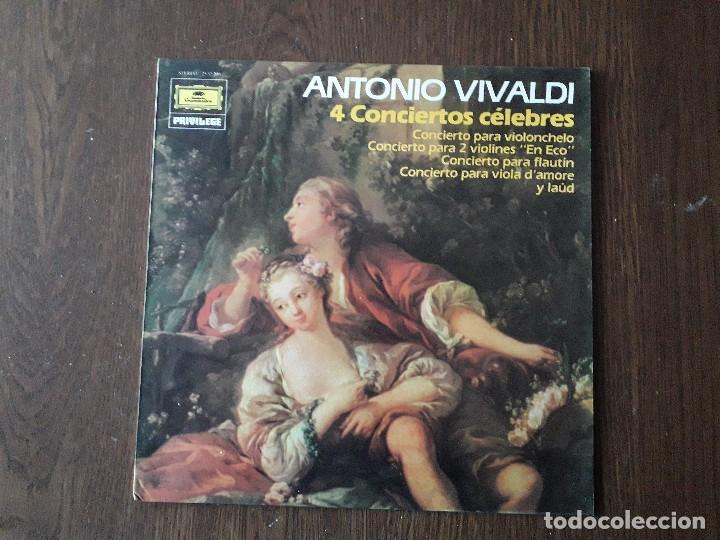 DISCO VINILO LP ANTONIO VIVALDI, 4 CONCIERTOS CÉLEBRES. DEUTSCHE GRAMMOPHON 25 35 200 AÑO 1984 (Música - Discos - LP Vinilo - Clásica, Ópera, Zarzuela y Marchas)