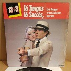 Discos de vinilo: LUIS ARAGON ET SON ORCHESTRE ARGENTIN / 16 TANGOS / LP - CARRERE-1980 / MBC. ***/***. Lote 152665514