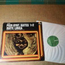 Discos de vinilo: SUITES 1 Y 2 Y SUITE LÍRICA DE PEER GYNT.. Lote 152666766
