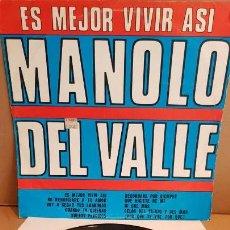 Discos de vinilo: MANOLO DEL VALLE / ES MEJOR VIVIR ASÍ / LP - AREITO-CUBA - MBC / ***/*** / DIFÍCIL. Lote 152678930