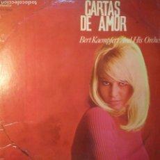 Discos de vinilo: BERT KAEMPFERT AND HIS ORCHESTRA - CARTAS DE AMOR (ESPAÑA, 1966). Lote 152684293