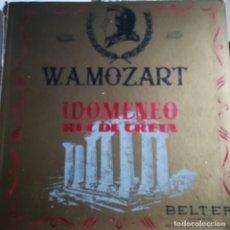 Discos de vinilo: W.A.MOZART--IDOMENEO REY DE CRETA-OBRA COMPLETA ORIGINAL-3 LPS-CON LIBRETO-BELTER 1956. Lote 152684862
