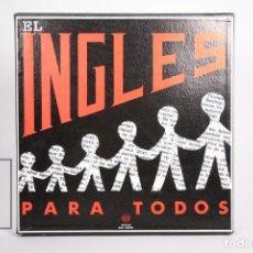 Discos de vinilo: CAJA DE 4 LP'S DE VINILOS Y LIBRO - EL INGLES PARA TODOS - AMERICAN BOOK COMPANY / RCA - AÑO 1963. Lote 152734802