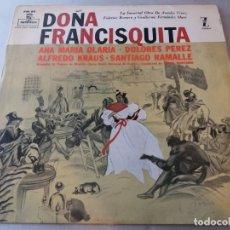 Discos de vinilo: DOÑA FRANCISQUITA / LP. Lote 152816294