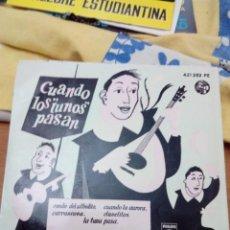 Disques de vinyle: CUANDO LOS TUNOS PASAN. ESTUDIANTINA DE MADRID. RONDA DEL SILBIDITO. CARRASCOSA. CLAVELITO. .MRV. Lote 152817262