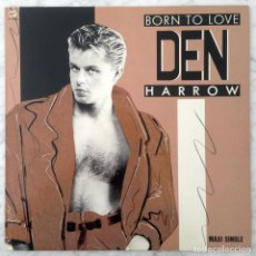 Discos de vinilo: MAXI-SINGLE - DEN HARROW - BORN TO LOVE - BABY RECORDS - 1988 (ITALO-DISCO). Lote 152843578