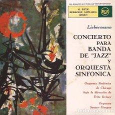 Discos de vinilo: EP COCNIERTO PARA BANDA DE JAZZ Y ORQUESTA SINFONICA SAUTER FINEGAN LIEBERMANN RCA 26037 EP DOBLE. Lote 152863426