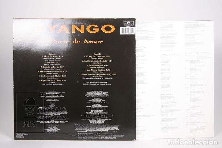 Discos de vinilo: Disco LP De Vinilo - Dyango / Morir de Amor - Polydor - Año 1993 - Con Encarte - Foto 3 - 152879329