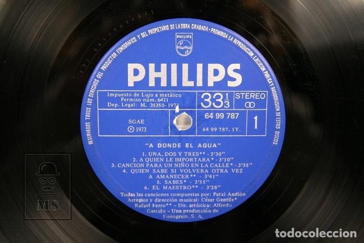 Discos de vinilo: Disco LP De Vinilo - Patxi Andion / A Donde el Agua - Philips - Año 1973 - Portada Abierta - Foto 2 - 152880005