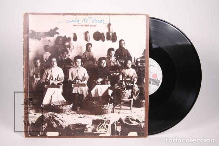 DISCO LP DE VINILO - MARIA DEL MAR BONET / SABA DE TERRER - ARIOLA 1979 - PORTADA ABIERTA - ENCARTE (Música - Discos - LP Vinilo - Solistas Españoles de los 70 a la actualidad)