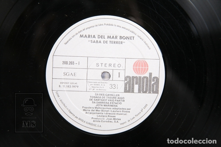 Discos de vinilo: Disco LP De Vinilo - Maria del Mar Bonet / Saba de Terrer - Ariola 1979 - Portada Abierta - Encarte - Foto 2 - 152880070