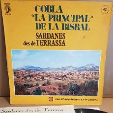 Discos de vinilo: COBLA-LA PRINCIPAL DE LA BISBAL- SARDANES DES DE TERRASSA / LP - DISCOPHON-1979 / MBC. ***/***. Lote 152886762