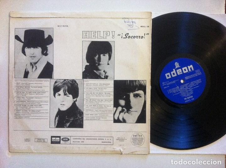 Discos de vinilo: THE BEATLES - help - LP ORIGINAL MONO - ODEON - MOCL 136 - 2 RECUADROS EMI - ODEON + GRAFICAS ROMAN - Foto 3 - 152887010