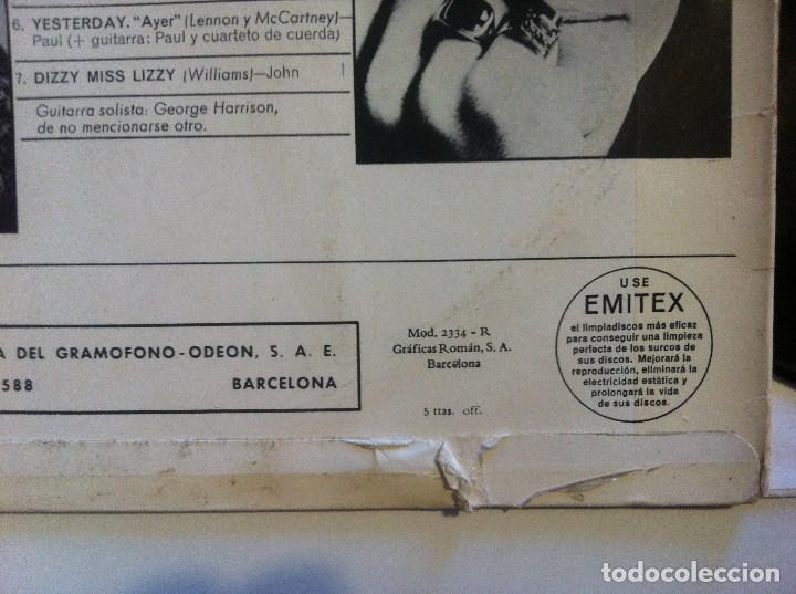 Discos de vinilo: THE BEATLES - help - LP ORIGINAL MONO - ODEON - MOCL 136 - 2 RECUADROS EMI - ODEON + GRAFICAS ROMAN - Foto 4 - 152887010
