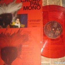 Discos de vinilo: CACAO PAL MONO - EL MISTERIOSO HOMBRE ENCARTE VINILO ROJO (GIRA 1984) OG ESPAÑA. Lote 152895070
