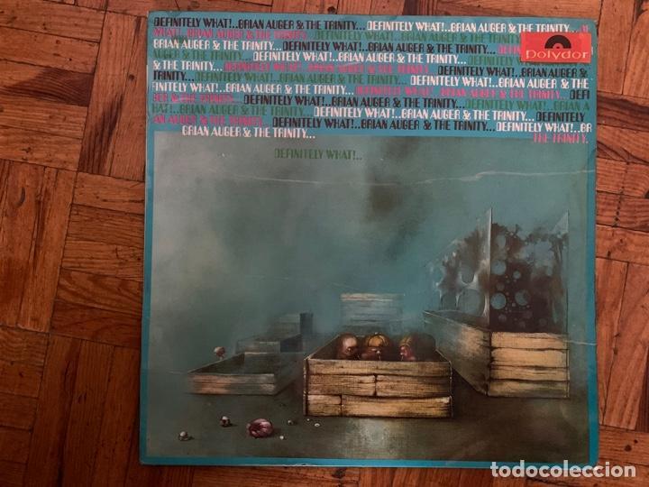 BRIAN AUGER & THE TRINITY ?– DEFINITELY WHAT! SELLO: POLYDOR ?– 184 182 FORMATO: VINYL, LP, ALBUM (Música - Discos - LP Vinilo - Pop - Rock - Extranjero de los 70)