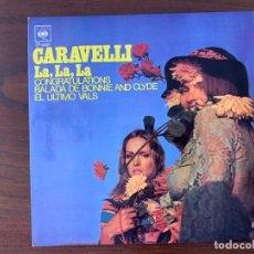 Discos de vinilo: CARAVELLI ?– LA, LA, LA SELLO: CBS ?– EP 6487 FORMATO: VINYL, 45 RPM, EP PAÍS: SPAIN FECHA: 1968. Lote 152903134