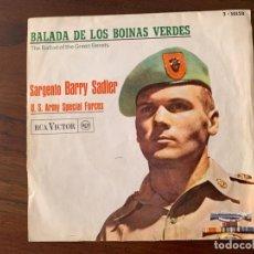 Discos de vinilo: SARGENTO BARRY SADLER ?– BALADA DE LOS BOINAS VERDES SELLO: RCA VICTOR ?– 3-10152 FORMATO: VINYL, 7 . Lote 152904142