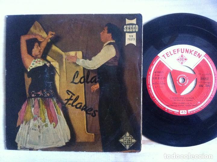 LOLA FLORES - LA NANA, ECHALE GUINDAS AL PAVO...EP 1958 - TELEFUNKEN (Música - Discos de Vinilo - EPs - Flamenco, Canción española y Cuplé)