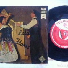 Discos de vinilo: LOLA FLORES - LA NANA, ECHALE GUINDAS AL PAVO...EP 1958 - TELEFUNKEN. Lote 152914678
