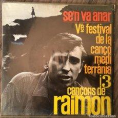 Discos de vinilo: RAIMON. SINGLE.. Lote 195406171