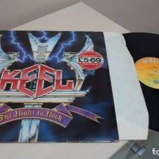 Discos de vinilo: KEEL-THE RIGHT TO ROCK- AÑO 1985- MADE IN BRITAIN VERTIGO- . Lote 152931518
