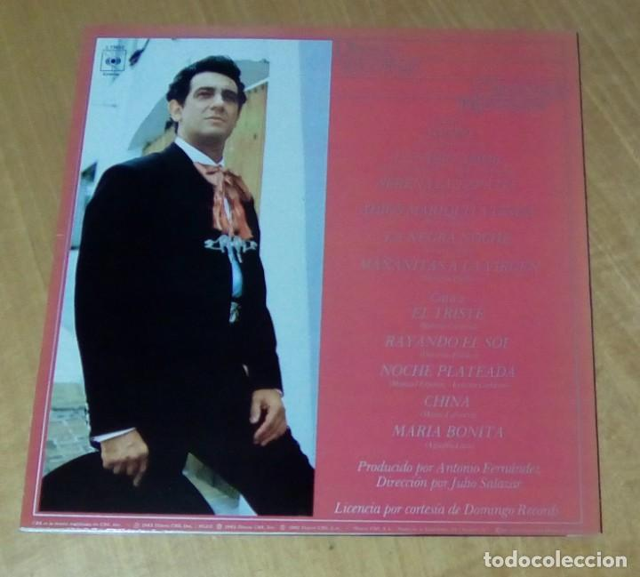 Discos de vinilo: PLACIDO DOMINGO - Canciones Mexicanas (LP 1982, CBS S 73652) - Foto 2 - 152932210