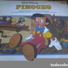 Discos de vinilo: WALT DISNEY.- PINOCHO.-CUENTOS Y CANCIONES DE LA BSO - LP ESPAÑOL 1983 + POSTER GIGANTE (60 X 88). Lote 152939498