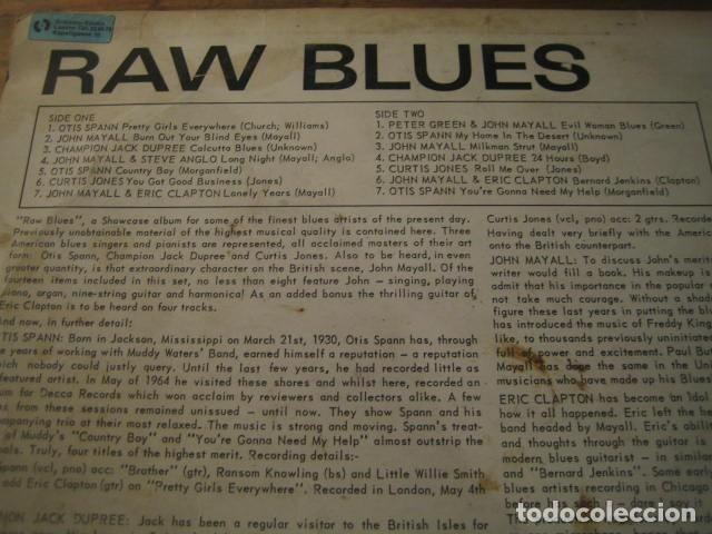 Discos de vinilo: VVAA - RAW BLUES **** LP UK blues R&B John Mayall Eric Clapton Otis Spann 1967 - Foto 2 - 152968886