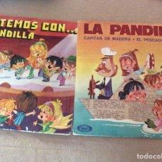 Discos de vinilo: LA PANDILLA. CANTEMOS CON... + CAPITÁN MADERA. LOTE 2 SINGLES. . Lote 153024342