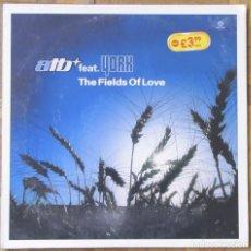 Discos de vinilo: ATB FEAT. YORK. THE FIELDS OF LOVE. LP MAXISINGLE. KONTOR RECORDS, 2000.. Lote 153031926