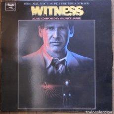Discos de vinilo: WITNESS BSO. COMPOSITOR MAURICE JARRE. VINILO VSD 1005, ESPAÑA, 1985. CARPETA Y DISCO EX.. Lote 153034554