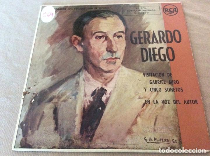 GERARDO DIEGO. VISITACION DE GABRIEL MIRO Y CINCO SONETOS EN LA VOZ DEL AUTOR. RCA (Música - Discos de Vinilo - EPs - Otros estilos)