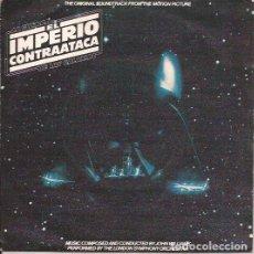 Discos de vinilo: SINGLE EL IMPERIO CONTRAATACA STAR WARS RSO 20 90 490 SPAIN. Lote 153064726