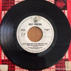 Discos de vinilo: BILLY PRESTON / LOS PEKENIKES SINGLE PROMOCIONAL HISPAVOX. Lote 153089222