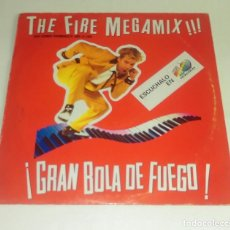Discos de vinilo: MAXI SINGLE THE FIRE MEGAMIX!!! GRAN BOLA DE FUEGO. Lote 153099766