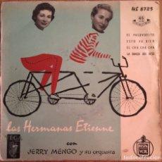 Discos de vinilo: LAS HERMANAS ETIENNE EP EDIC ESPAÑA DISCO EXCELENTE. Lote 153103522